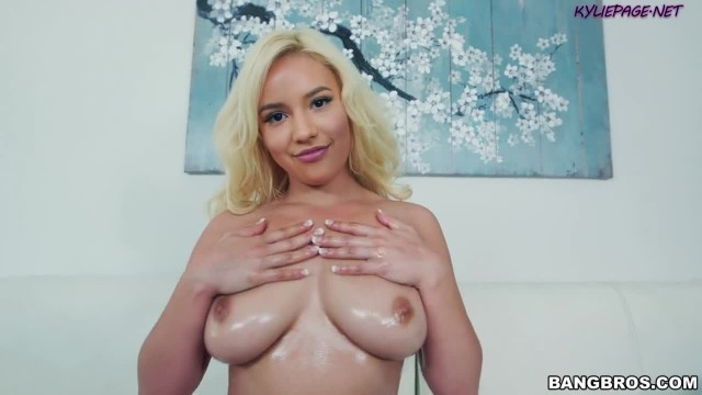 Kylie Page POV Oily Boob Massage, Blowjob and TittyFucking