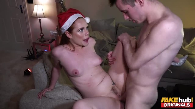 FAKEhub Originals Mad Xmas House Party Ends with Redhead Fucking Young Guy