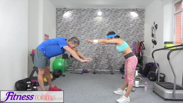 Fitness Rooms Petite Sporty British Afghan gets a Rough Fuck in the Gym