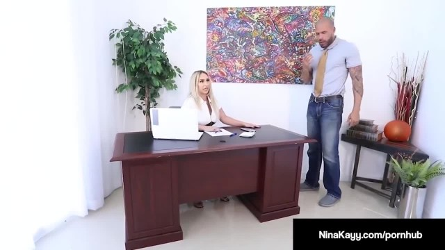 Latina Boss Nina Kayy gets Rammed by her Big Cock Employee!