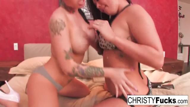Sexy Christy Mack and London Keyes take on Ramon's Huge Cock