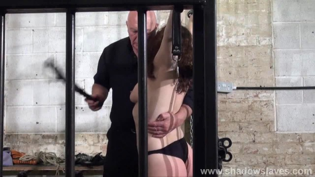 Whipped Tits and Rigid Spanking of Enslaved Beauvoir in Bondage and Severe