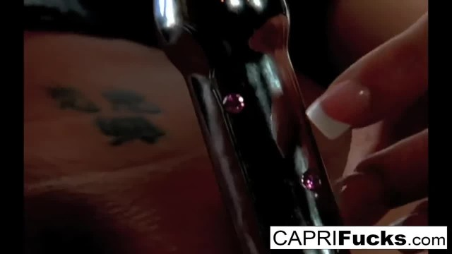 Capri Plays with her Wet Pussy and Amazing Tits