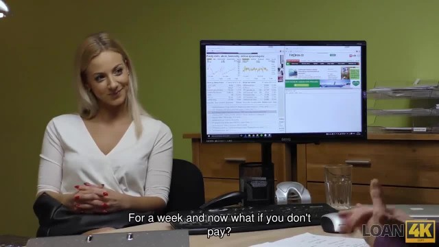 LOAN4K. Nathaly Teges is Ready for Sex for Cash in Loan Office