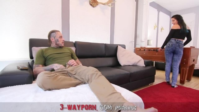 3-WayPorn - two Step-Sisters Share Big Dick in HardcoreThreesome