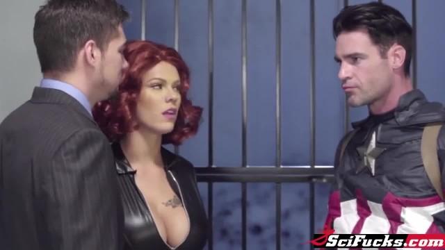 Black Widow Fucks Captain America XXX Parody