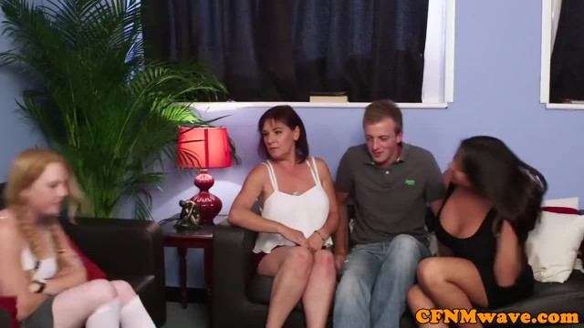 Two Aunties Test his Cock