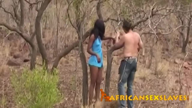 African Bitch Pleases Man with Sex during Dangerous Safari