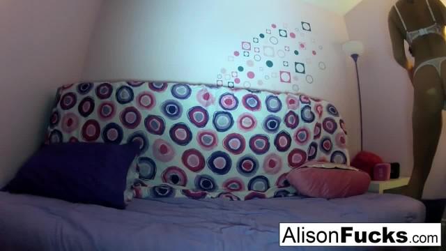 Alison Masturbates in Bed