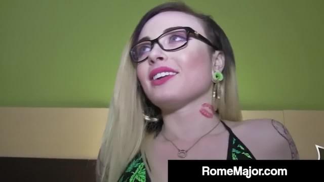 Black Bull Rome Major Cums on Inked Chloe Carter's Glasses!