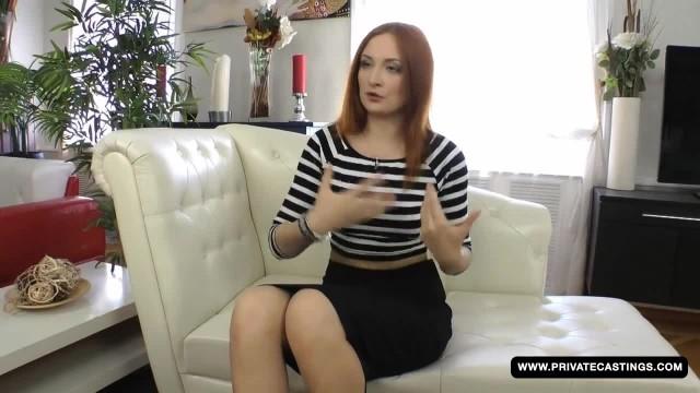 Cute Porn Hopeful Eva Berger has a Hardcore Anal Interracial Casting