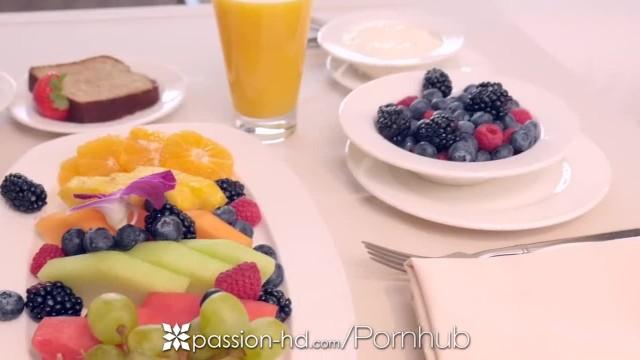 PASSION-HD Hotel Morning Breakfast Fuck with Brunette Jill Kassidy