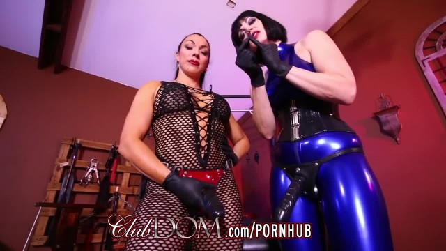 ClubDom Mistresses Bang Man Ass with Strap-On Cocks