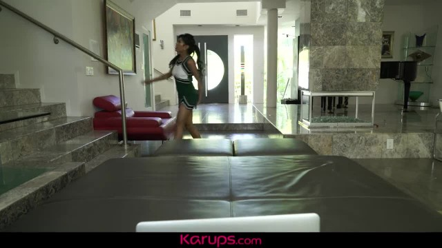 Karups - Asian Cheerlead Ember Snow Toys Hairy Pussy on Cam