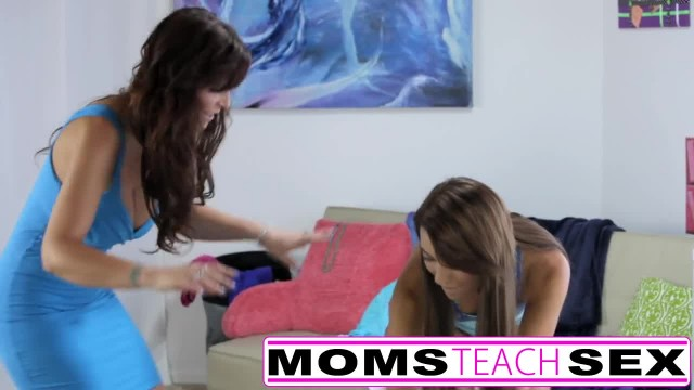 Step Mom and Step Daughter Fuck Monster Cock