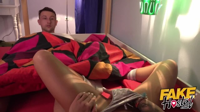 Fake Hostel Couple have Anal Sex before Squirting Orgasm