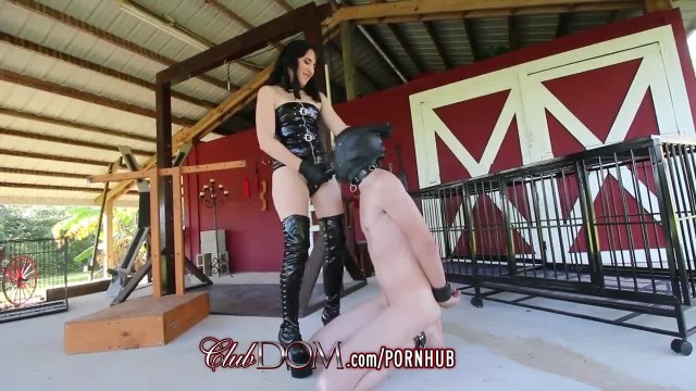 FemDom Pounds his Ass with Big Black Strap on