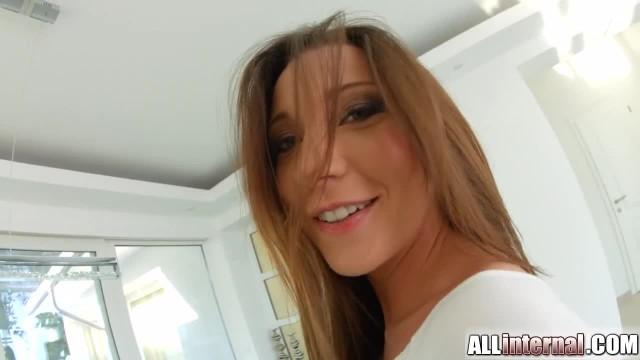 AllInternal Julie Skyhigh Loves taking a Messy Creampie in her Hole