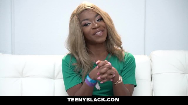 TeenyBlack - Small Black Girl gets Fucked Rough by White Dick