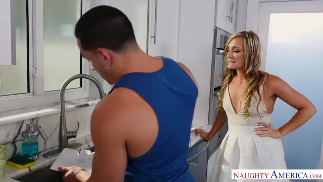 Blonde MILF Punishes her Son's Friend the way he needs - Naughty America