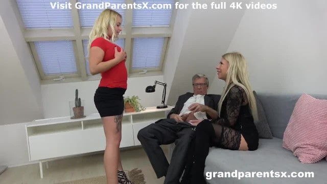 Blonde Teen gets to Fuck Older Couple