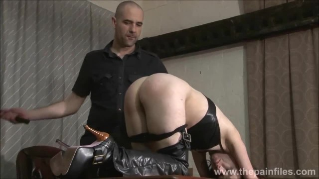Kinky Leather Slave Fae Corbins Amateur BDSM and Hot Wax Punishment and sub