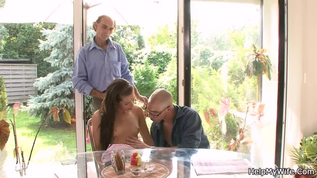 Old Husband Asks another Man Bang his Young Wife