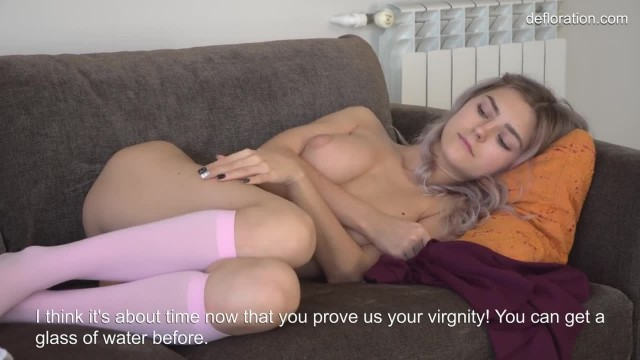 Tieny Mieny The Youngest Virgin Shows her Hymen and Masturbates
