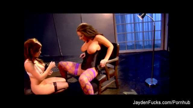 Lesbian Fun with Busty Brunettes Jayden and Taylor