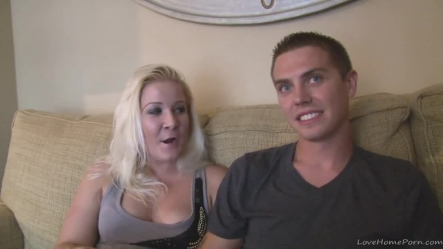 Homegrown Amateur Blonde Fucked on the Sofa
