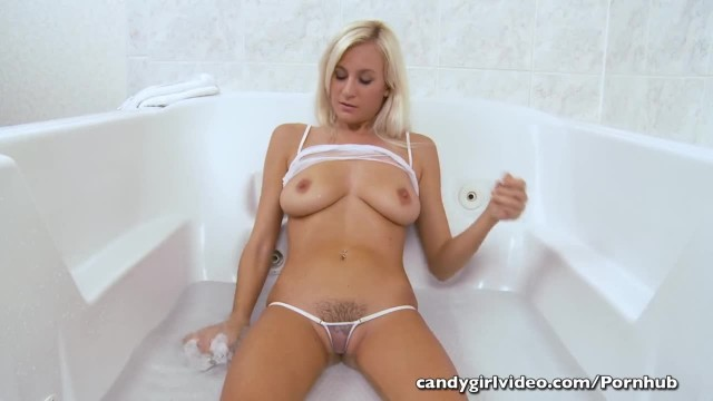 Autumn Westin Cameltoe and Micro Thong Play while in the Tub