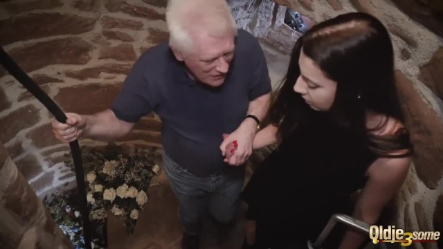 Surprise Threesome for Rich old Man from Teen Girlfriend