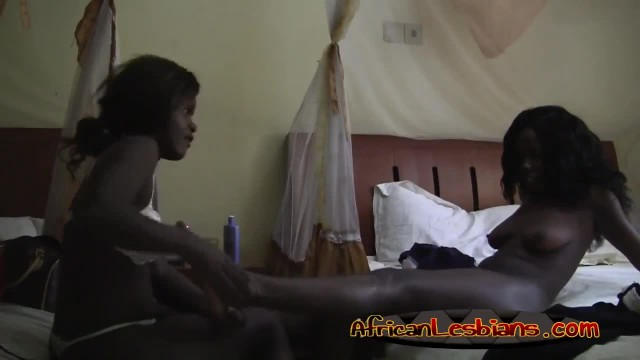 Busty African Lesbians Pleasing each other with Intense Fingering