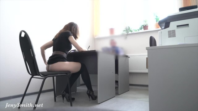 Hidden Cam! Jenny Smith Strips at REAL Job Interview