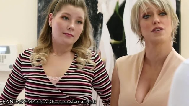 FantasyMassage Stepmom & Daughter Agree to Share Cock!