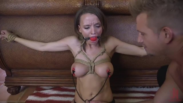 Cute Realtor Tied and Dominated by The New Renter