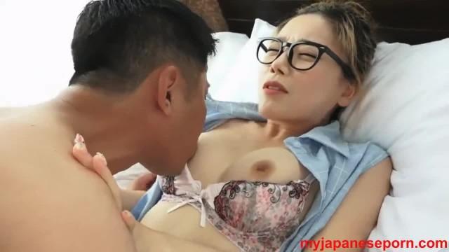 Korean Tenn with Glasses Fucks at Hotel