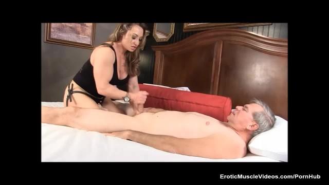 Muscle Goddess Brandi Mae Teaches Dirty old Man a Lesson