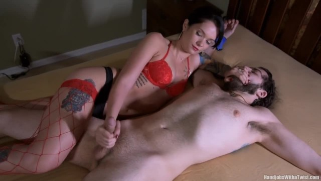 Dominant Wife Takes Total Control of Helpless Man's Cock and Cum with HOM