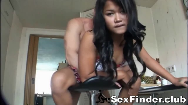 Asian Teen Wife Filming Anal with Coworker for Husband