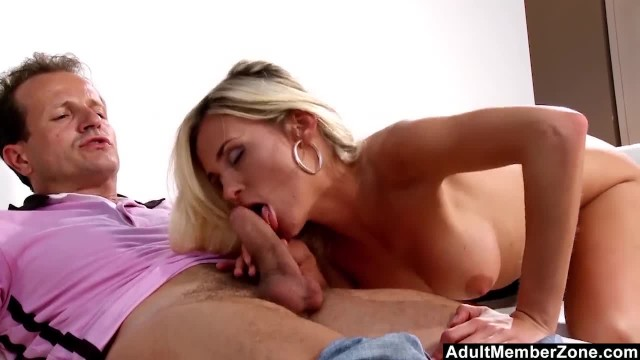 Asslicking and Fucking his Blonde Model