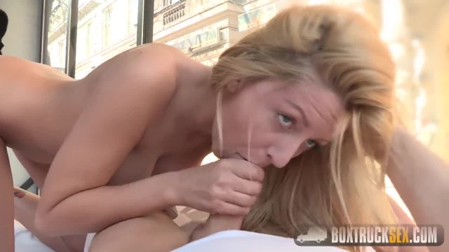 Hot Summer gives a Foot Job in Public