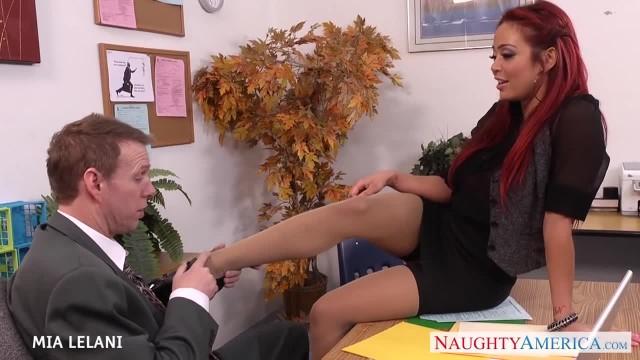 Redhead Mia Lelani Fucks in the Office