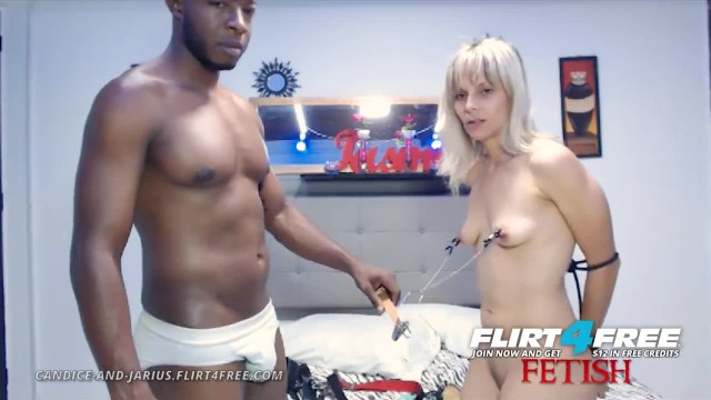 Candice & Jarius on Flirt4Free - Rope Torture w Nipple Clamps and Anal Play