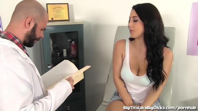 Breast Exam gets Hardcore for Brunette Cutie