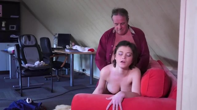 Old Fat gets Lucky with Hot Busty Teen