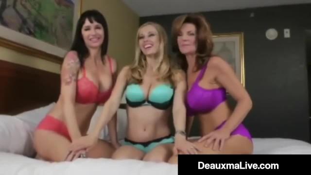 Busty Cougar Deauxma Pussy Fucks Angie Noire & Anita Dark!