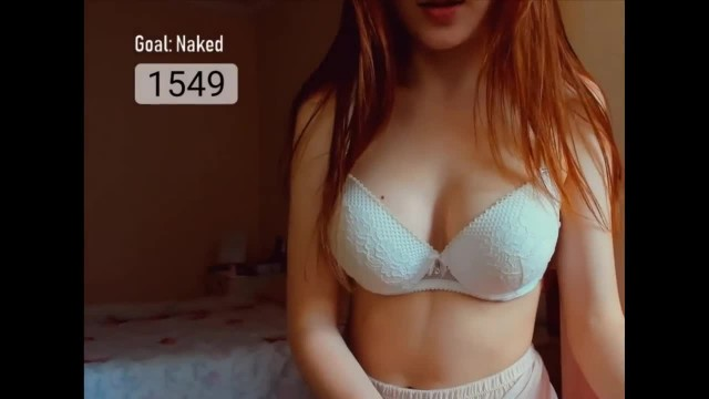 Bra Teasing with Amateur Brunette Teen