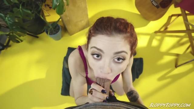 Hot Teen Lola Fae Giving a SLOPPY TOPPY Blowjob