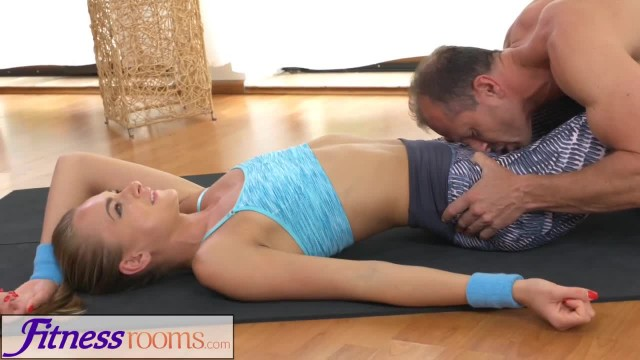 FitnessRooms Ivana Sugar has a Full Body and Pussy Stretch with Fitness Training